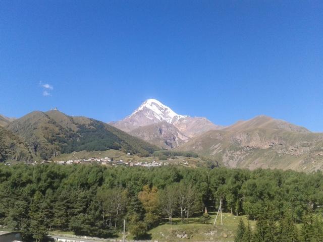 widok na Kazbeg
